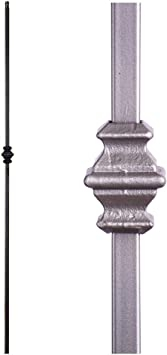 Ash Grey 1 2 Sq Single Knuckle Modern Iron Baluster House Of | House Of Forgings Balusters | Oval | Contemporary | Oil Rubbed | Modern | Forged Steel