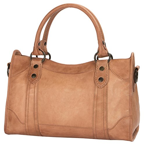 51whK3j8ssL Smooth full grain leather zip satchel from Frye's best selling Melissa collection Zipper closure 1 interior zip pocket, 2 interior sleeve pockets