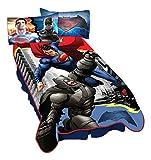 """Warner Bros. Batman Vs Superman Heroes Dual Blanket, 62"""" x 90"""""""