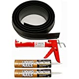 Tsunami Seal 53016 Lifetime Garage Door Threshold Seal Kit - 16 Foot, Black (Various Sizes Available)