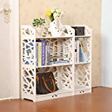 Product review for D-line Wood and Plastic Bookcase Bookshelf Storage Shelf, White, Set of 2