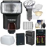 Precision Design DSLR350 High Power Auto Flash with EN-EL14a Battery & Charger + Diffuser Kit for Nikon D3300, D3400, D5300, D5500, D5600 DSLR Cameras