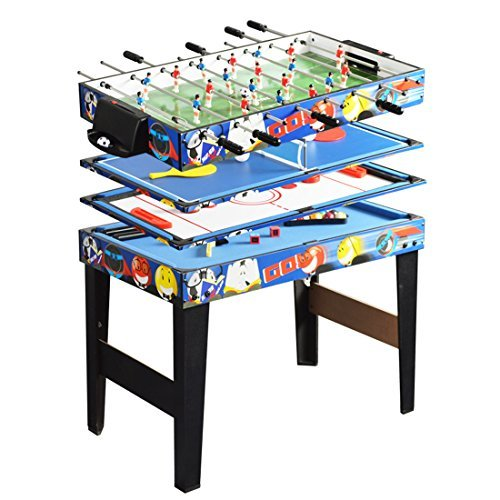 Deluxe 48in/4Ft 4 in 1 Top Game Table Multi-function Steady Combo Table Tennis (Ping Pong ),Glide...