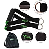 iRibit Fitness Professional Exercise Handles for Cable Machines and Resistance Bands (Green)