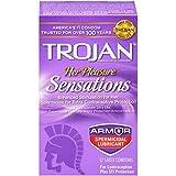 Trojan Her Pleasure Sensations Spermicidal Lubricated Condoms, 12ct