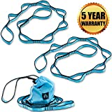Aerial Yoga Hammock Daisy Chains - Yoga Swing Rope - Yoga Hanging Trapeze Extension Straps - Height Adjustable Nylon Chain Best for Antigravity Yoga Inversion - Home Indoor Outdoor Mount Ropes
