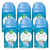 Air Wick Pure Freshmatic 6 Refills Automatic Spray, Fresh Waters, 6ct, Air Freshener, Essential Oil, Odor Neutralization, Packaging May Vary