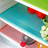 AKINLY 9 Pack Refrigerator Mats,Washable Fridge Mats Liners Waterproof Fridge Pads Mat Shelves Drawer Table Mats Refrigerator Liners for Shelves,3Red/3Green/3Blue