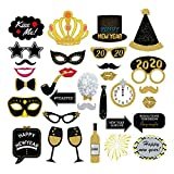 7-gost 32PCS 2020 New Year's Eve Party Card Masks Photo Booth Props Supplies Decorations