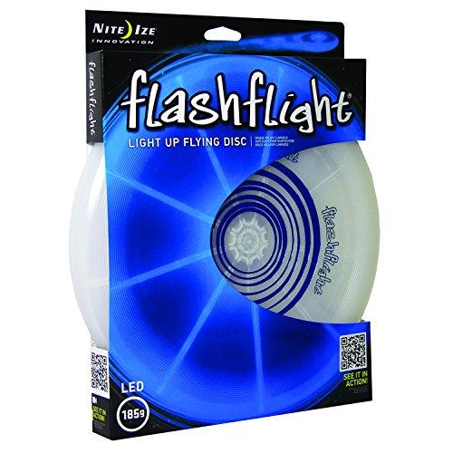 Nite Ize Flashflight LED Light Up Flying Disc, Glow in the Dark for Night Games, 185g, Blue