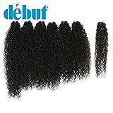 DÉBUT synthetic hair bundles weave bundles 7pcs Afro Kinky curly 22 24 26 inch 220g high temperature fiber