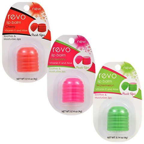REVO Lip Balm | 3 Pack (Cherry, Strawberry & Watermelon)