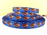 5 yards 3/8 Superman Grosgrain Ribbon