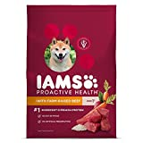 IAMS Proactive Health Dry Dog Food, Beef & Rice, 26.2 lbs. (Standard Packaging)