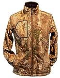 Gerbing Gyde Torrid Softshell Heated Jacket for Men - 7V Battery Electric Heated Softshell Jacket for Outdoors, Hunting, Camping, Fishing - Real Tree Camo Print Heating Clothing