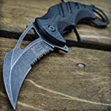8' Spring Assisted Open Folding Pocket Knife Karambit Claw Combat Tactical New