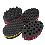 4 Pcs Varied Small Hair Twist Sponge Brush For Dreads Locking Twist Afro Curl Coil Wave Hair Care Tool (Blend)