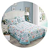 100% Cotton Pastoral Floral Sleeping Bed Sheet Bedspreads Bedroom Sheet Pillowshams Covers Earthing Bedding Flat Sheet Only,No.08,230x245cm(90x96inch)