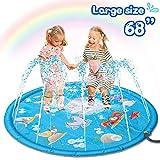 HOMOFY Large 68' Splash Pad Outdoor Toys for Kids,Sprinkler Water Toys for 2 3 4 5 Years Old Boys Girls Toddlers,Outside Party Sprinkler Splash Play Mat