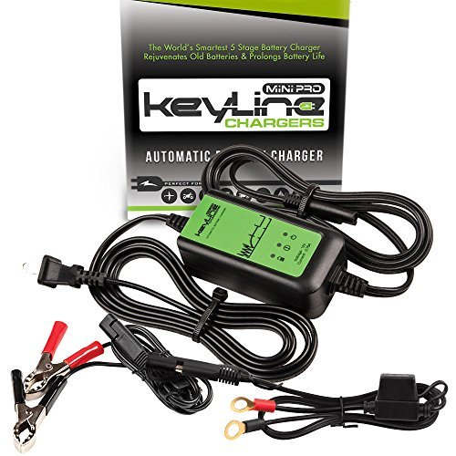 Best ATV Battery Charger KeyLine Chargers KC-75A-MP 12V 0.75 Amp Automatic Mini Pro Car Battery Charger