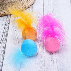 UEETEK-Cat-Feather-Ball-Catnip-Ball-Interactive-Toys-with-Bell-for-Kitten-Pack-of-6