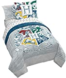 Jay Franco Harry Potter Wizardry Twin/Full Comforter - Super Soft Kids Reversible Bedding Features Hogwarts Logo - Fade Resistant Polyester Microfiber Fill (Official Warner Brothers Product)