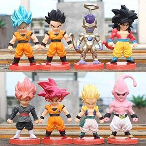 N / A Dragon Ball Black Son Goku Buu Wutianx Hand Office Doll Periphery Model Cake Decoration Model Handmade Creative Design Worth Collecting Make Gift Gift Toy Gift Model Friend Figurine 51x5FLZu 2B9L