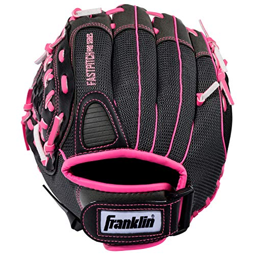 Franklin Sports Softball Glove - Left and Right Handed Softball Fielding Glove - Windmill Fastpitch Pro Series - Adult and Youth Fielding Glove - 11 Inch Left Hand Throw - Pink