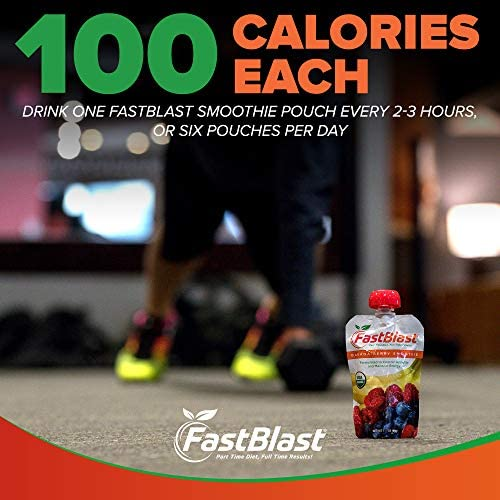 FastBlast Banana-Berry Smoothie. Supports Intermittent Fasting. Controls Appetite and Maintains Energy. USDA Certified Organic, Vegan, Non-GMO, Soy Free & No Added Sugar (12 Units) 6