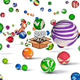 Fun Central 250 Pieces - 27mm Bouncy Balls Bulk - Supper Ball Party Favors for Vending Machine Capsules