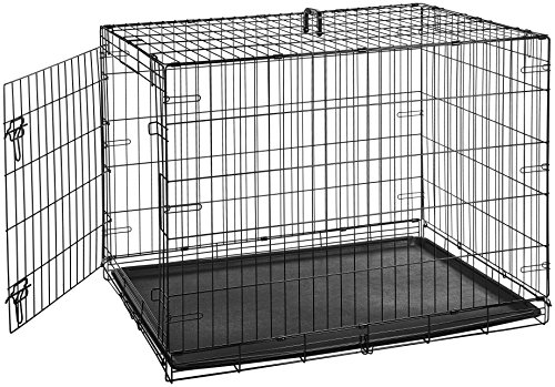 AmazonBasics Single-Door Folding Metal Dog Crate - 42 Inches