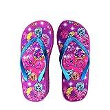 Shopkins Girls Wedge Sandals with Sidewall Print in Fuchsia/Donut, Size 13/1 US Little Kid