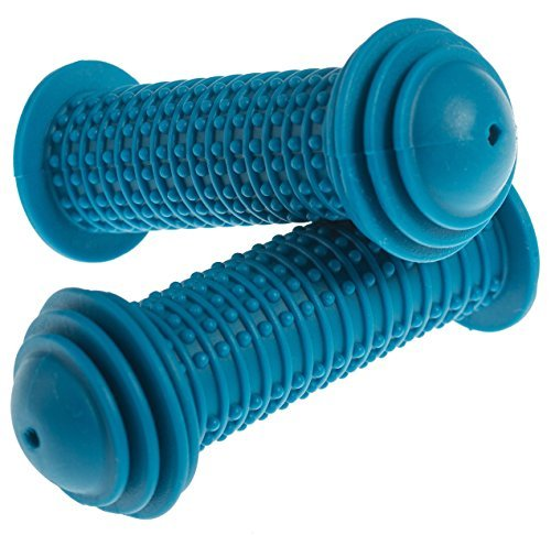 Prometheus Kids Bike Grips 1 Pair in Blue | with Safety BAR END Pads | Also for Balance Bike and Scooter | 22 mm Handlebar Grips | Child Safety Grip with Safety Impact Ends | Edition 2018