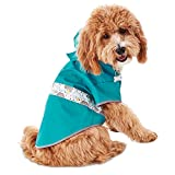 Good2Go Reversible Dog Raincoat in Blue, Small