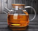 Tealife Good Glass Teapot Borosilicate Glass Tea Pots Stovetop Safe, 34 Ounce / 1000 ml (1000ml)