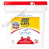 Purina Tidy Cats LightWeight 24/7 Performance for Multiple Cats Clumping Dust Free Cat Litter - 12 lb. Pail
