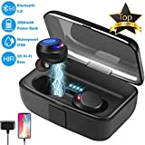 Bluetooth 5.0 Wireless Earbuds-Waterproof IPX8 Touch Earphones 3D Hi-Fi Sound Noise Cancelling Wireless Headphones/Deep Bass Ture Wireless Earbuds Stereo with Mic 3000mAh Charging Box