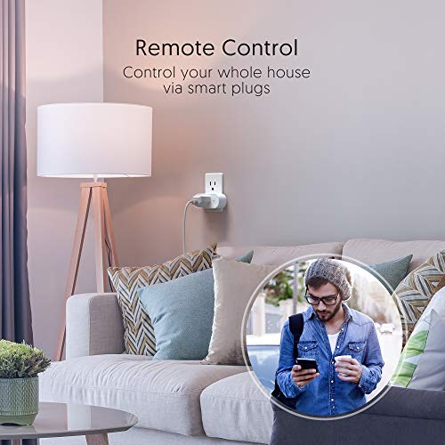 Smart Plugs That Work with Alexa, TECKIN 15A Alexa Smart Plugs with Remote Control, Schedule and Timer Function, FCC ETL Certification, No hub Require, 4 Pack 16