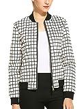 Product review for Zeagoo Women`s Long Sleeve Plaid Zipper Short Bomber Jacket Coat