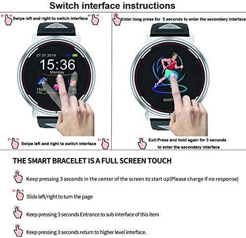 Smart Watch for iOS Android Phones, AIVEILE 2020 Version Activity Fitness Tracker Bluetooth Bracelet Waterproof Smartwatch with Blood Pressure Monitor Compatible Samsung iPhone for Men Women Kids 4