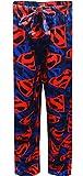 DC Comics Men's Superman Fleece Pants, Blue, S