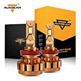 Auxbeam H11 LED Headlight Bulbs F-16 Plus Series LED Headlights with 2 Pcs of H11 Led Headlight Conversion Kits 70W 7000lm High Brightness SMD LED Chips Driving Light (Pack of 2)