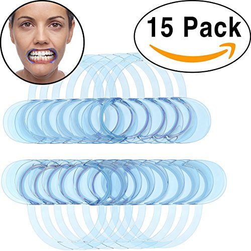 15 Pack Dental Cheek Retractor for Watch Ya Mouth/Speak Out Game C-SHAPE Adult Teeth Whitening Intraoral Cheek Lip Retractors Mouth Opener - 1 Unit of 15 Pieces