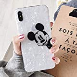 Maxlight Cartoon TPU Phone Case for iPhone 7 8 Plus XS MAX XR Cute Mickey Mouse Minnie Soft Case for iPhone X Plus Coque (B, for iPhone XR)