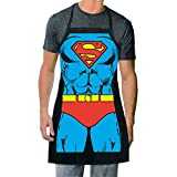 ICUP DC Comics - Superman, The Man Of Steel Be The Character Adult Size 100% Cotton Adjustable Black Apron