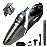 Wireless Car Vacuum, WELIKERA 12V 100W Hand-held Cordless Vacuum, Powerful Portable Car Vac, Pet Hair Car Cleaner, Cordless Rechargeable Dust Busters with A Carrying Bag, Black