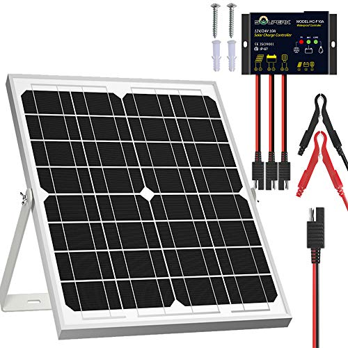 SOLPERK-Solar-Panel-Kit-20W-12V-Solar-Battery-Trickle-Charger-Maintainer-Upgrade-Waterproof-Controller-Adjustable-Mount-Bracket-for-Boat-Car-RV-Motorcycle-Marine-Automotive