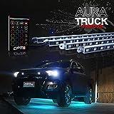 OPT7 Aura Truck/SUV LED Underglow Lighting Kit w/Remote - 4 Aluminum Waterproof Glow Bars