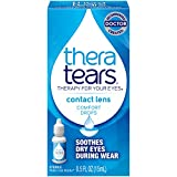 TheraTears Eye Drops for Contacts, Contact Lens Rewetting Eyedrops for Dry Eyes due to Contact Lens Wear, 15 mL, 0.5 Fl oz