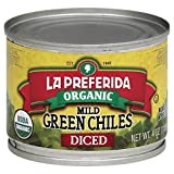 La Preferida Chile Green Diced Mild Organic, 4 oz